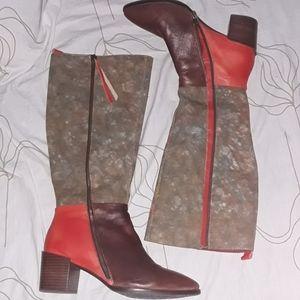 L'artiste step by step Libre color block boots